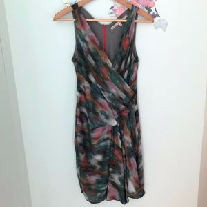 Draped Multi-Color Dress